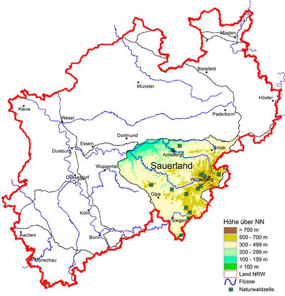 Sauerland Karte Deutschland.Sauerland Wald Holz